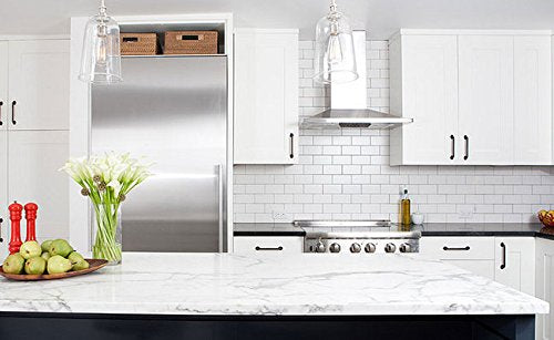 White Ceramic 3x6 Subway Tile Matte Finish for Kitchen Backsplash and Bathroom Wall  (10 Sq. Ft) - Free Shipping