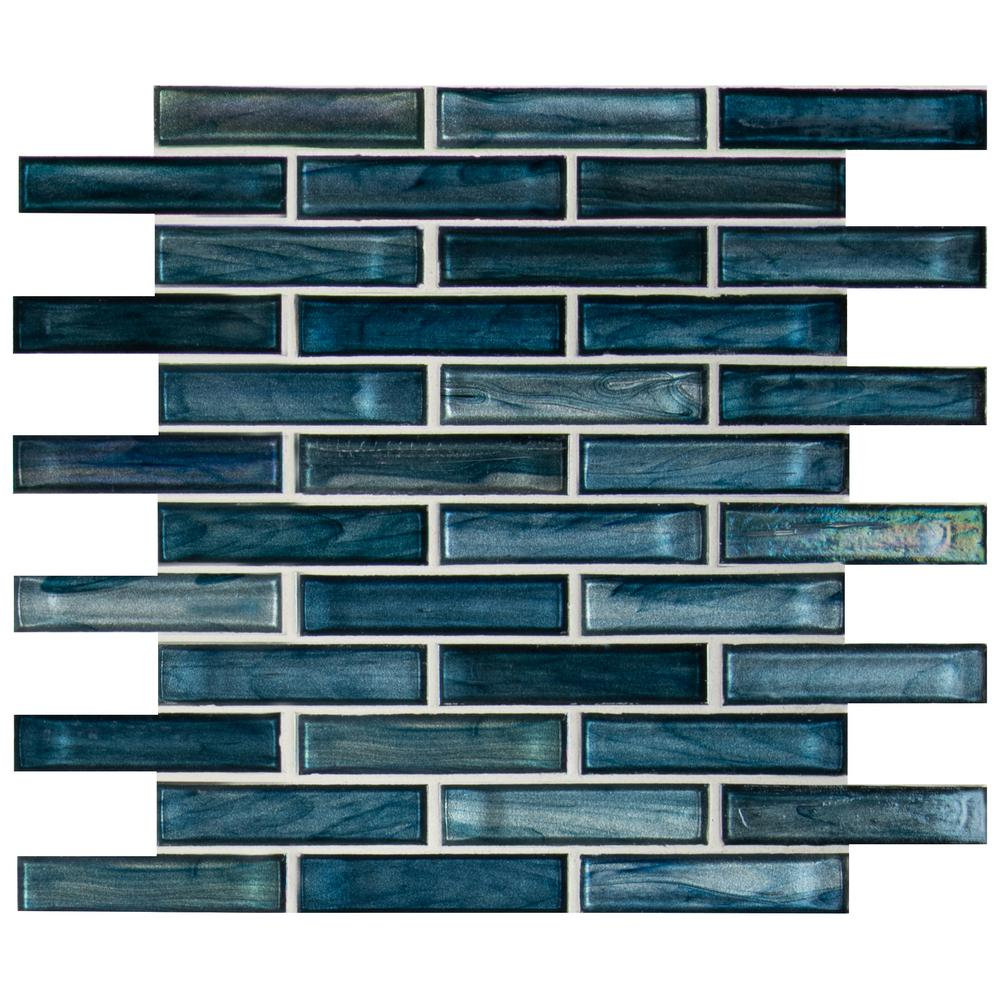 MSI Oasis Blast 12 in. x 12 in. x 6 mm Glass Mesh-Mounted Mosaic Tile (Box of 10)- Free Shipping
