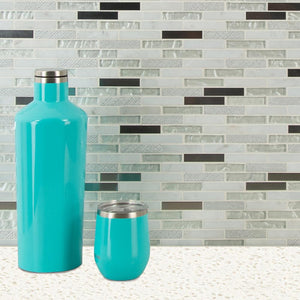 MS International SMOT-SGLSMT-OC8MM Ocean Crest Brick Pattern Mesh-Mounted Mosaic Tile 12 x 12 x 8mm 10 Piece