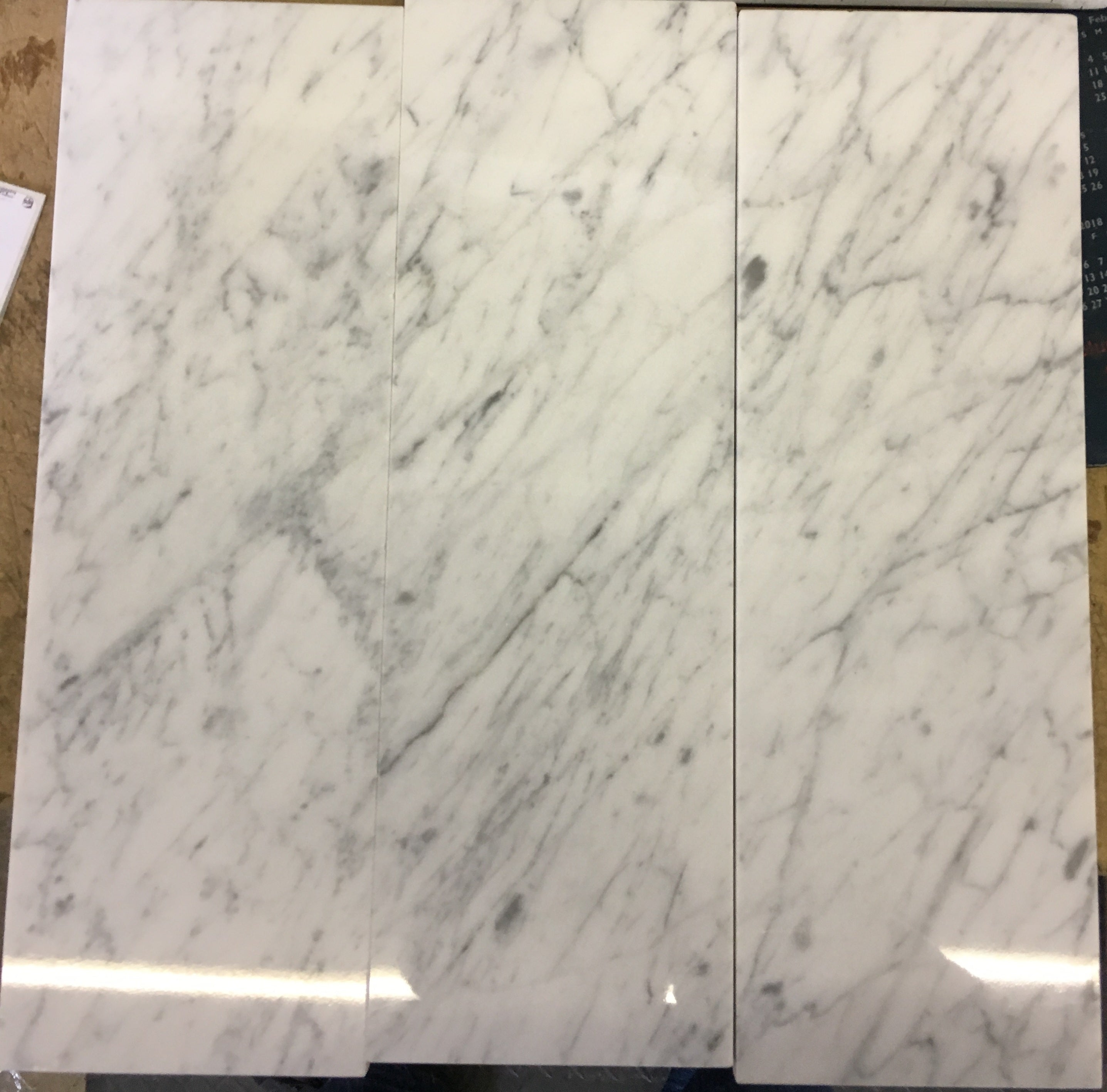 Carrara Marble Italian White Bianco Carrera 4x12 Marble Tile Polished