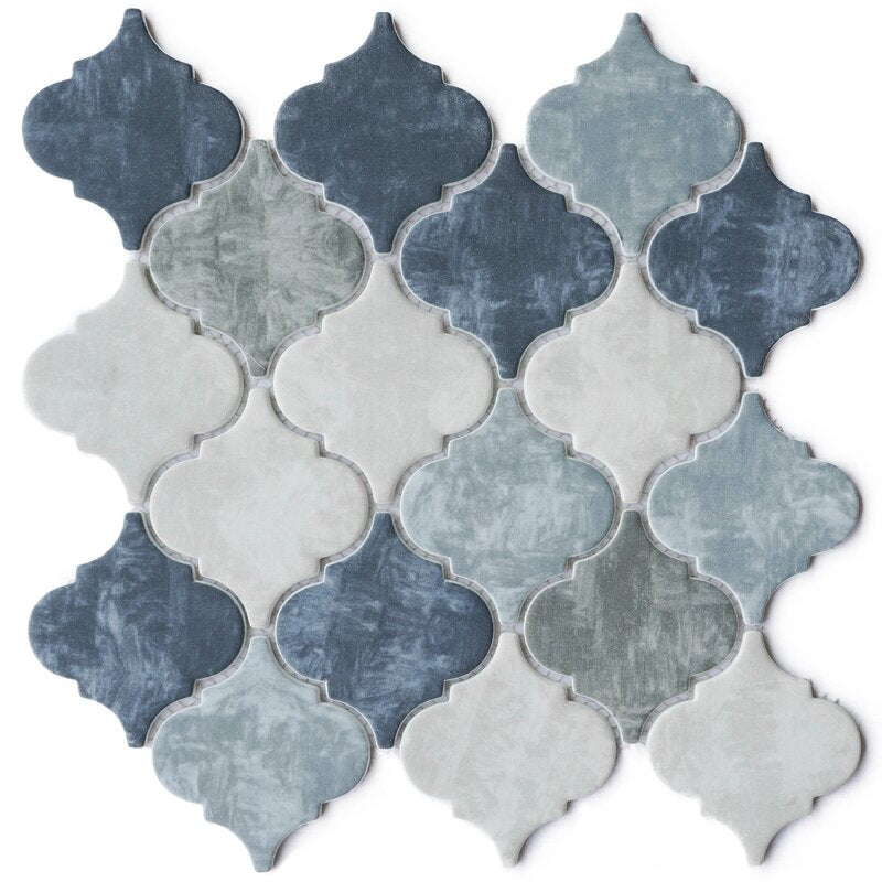 Lantern Arabesque Glass Mosaic Sheet Wall Tile for Bathroom, Floor Tile and Kitchen Backsplash (10 Sheets / case) - Free Shipping