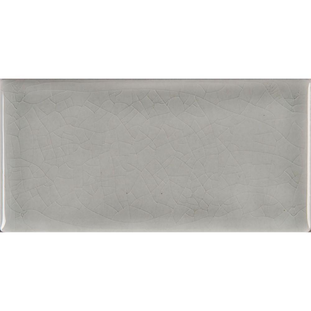 MS International Morning Fog 3 in. x 6 in. Handcrafted Glazed Ceramic Wall Tile (1 sq. ft. / case)