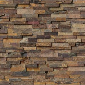 MS International California Gold Ledger Panel 6 in. x 24 in. Natural Slate Wall Tile