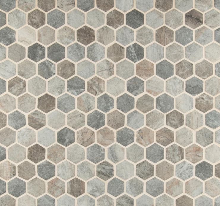 MSI  Stonella Hexagon 6mm Glass Mesh-Mounted Mosaic Tile (Box of 10 Sheets) - Free Shipping