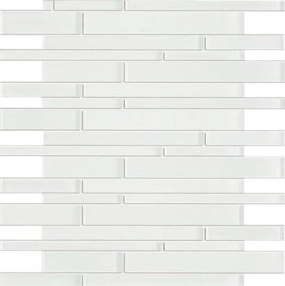 White Glossy and White Matte Glass Mosaic Tiles