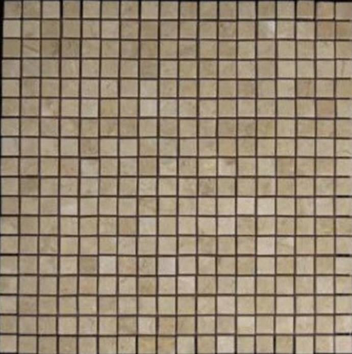 Crema Marfil Marble 5/8x5/8 Mosaic Tile Polished for Bathroom and Kitchen Walls Kitchen Backsplashes (Free Shipping)