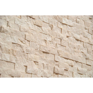 "Roman Marble 1X2 Marble Split-Faced Mosaic Tile ( on 12"" x 12"" Mesh)"