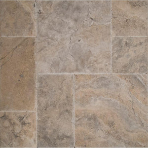 MS International Silver Pattern Honed-Unfilled-Chipped-Brushed Travertine Floor and Wall Tile (5 kits / 80 sq. ft. / pallet)