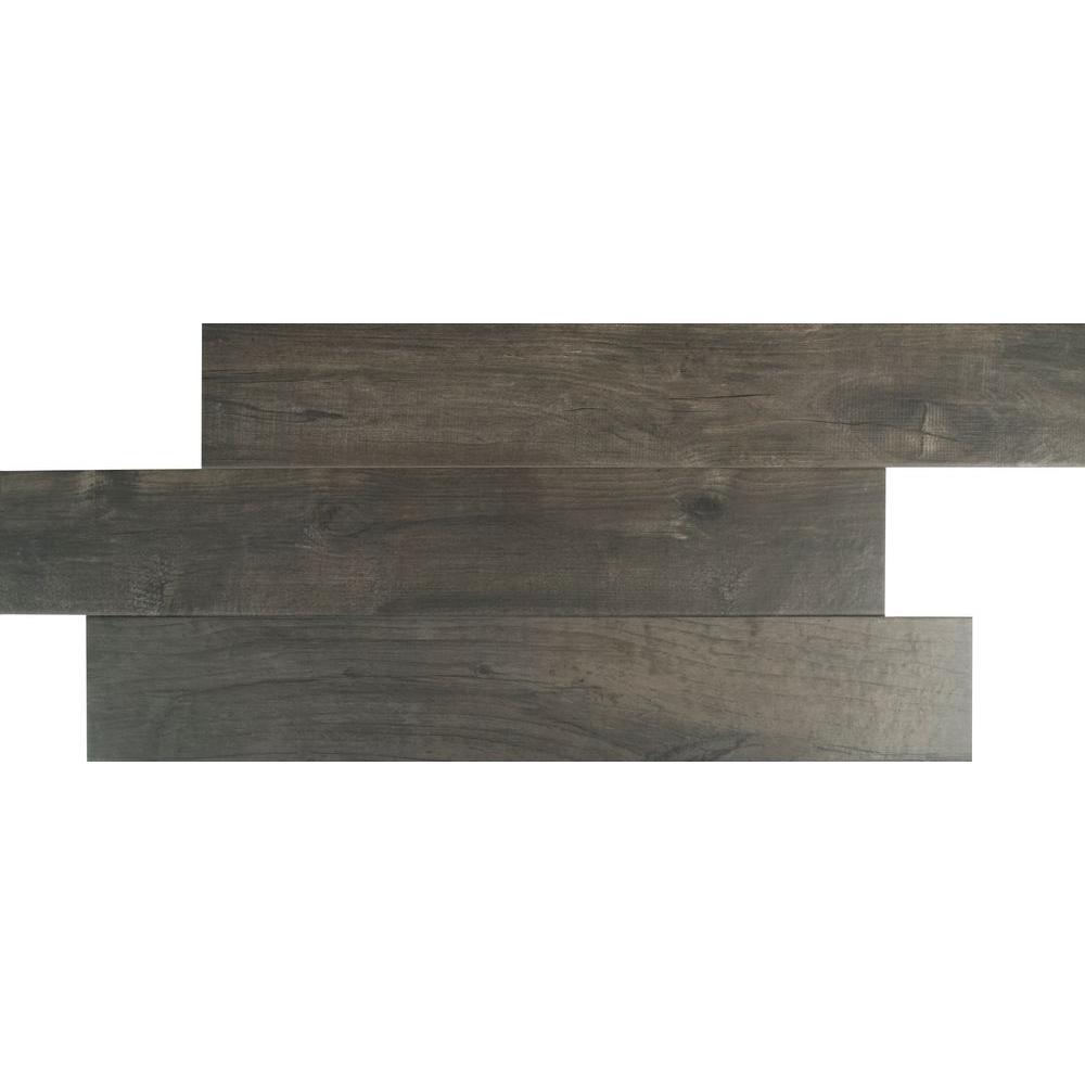 MS International Ardennes Notte 6 in. x 36 in. Glazed Porcelain Floor and Wall Tile (9 PIECES / case)