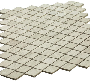 Grey Wooden Look Diamond Pattern Stone Tile Mosaics