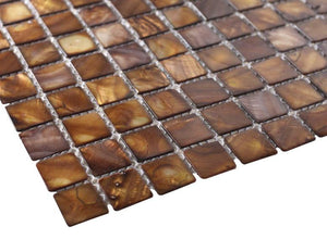 Caramel Mother of Pearl Mosaic Tiles