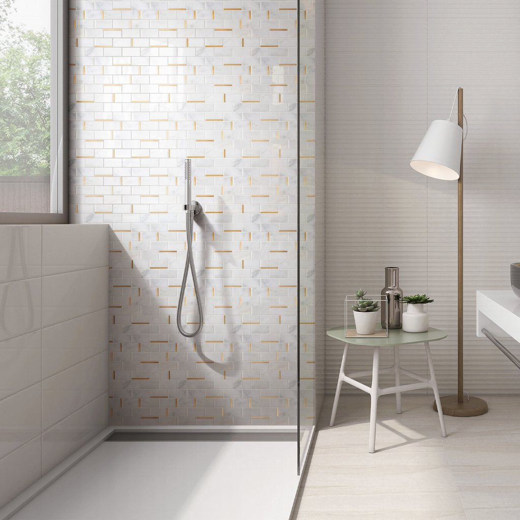 Genuine Mother of Pearl Oyster Herringbone Shell Mosaic Tile for Kitchen Backsplashes, Bathroom Walls, Spas, Pools by Vogue Tile - Free Shipping