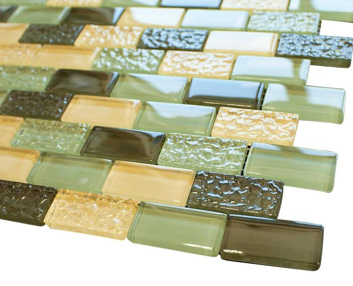Soldier Crystal Subway Glass Mosaic Tiles