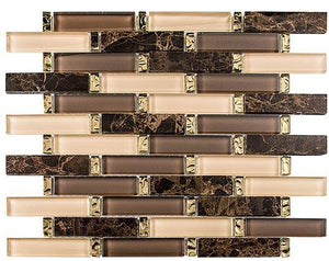 Glazzio Tiles Crunched Walnut INT255 - Free Shipping