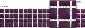 "Glazzio Tiles Amethyst Crown (5/8""x5/8"") KS448"
