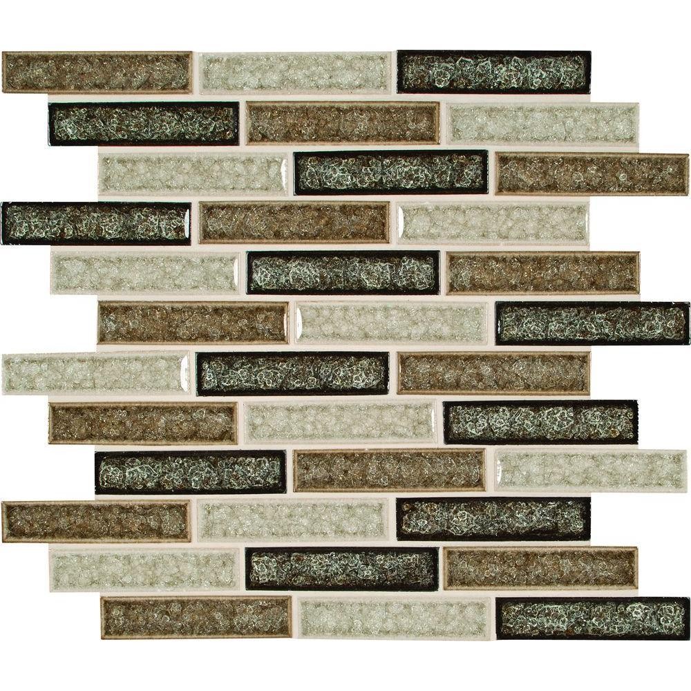 MS International Venetian Cafe 12 in. x 12 in. x 8 mm Glass Mesh-Mounted Mosaic Tile