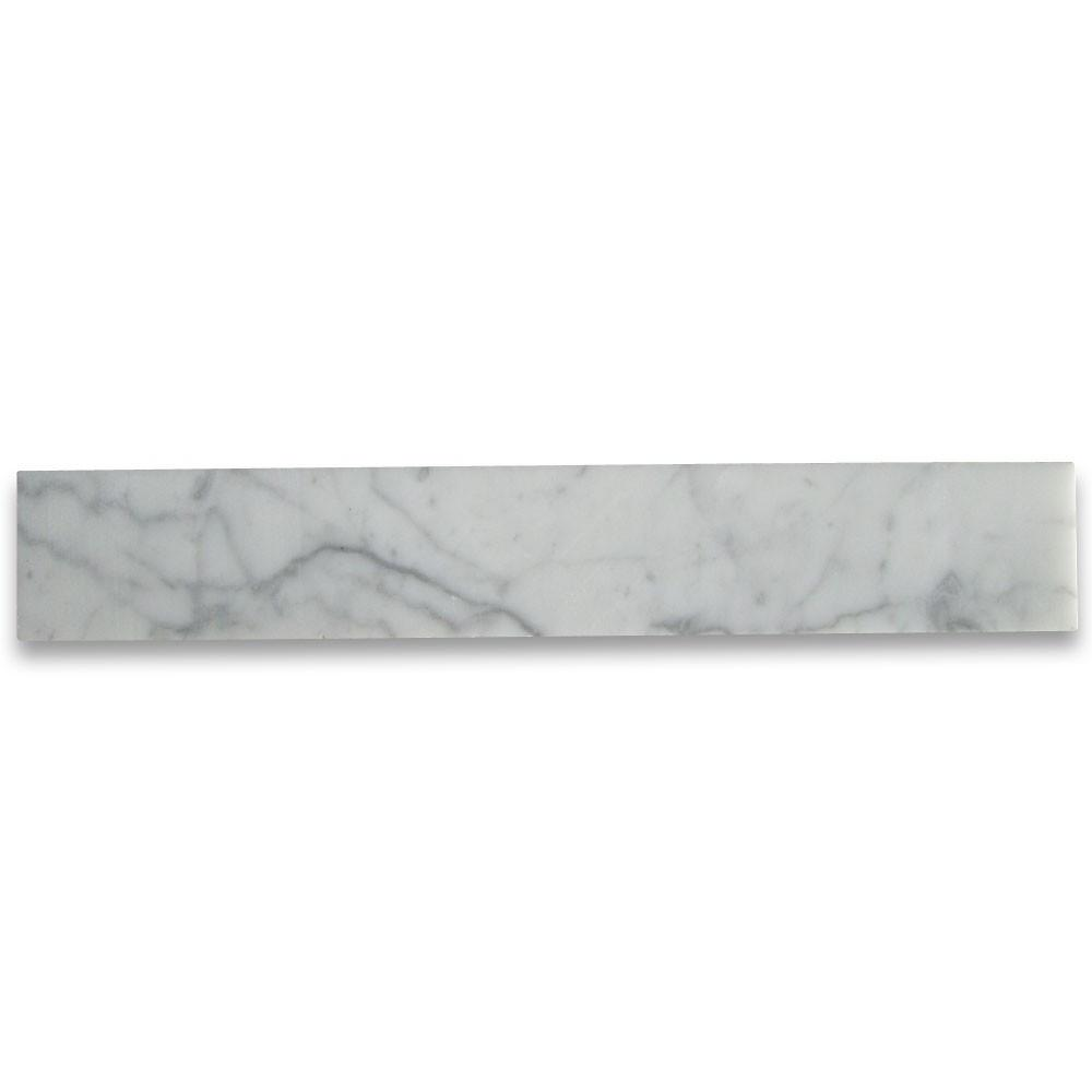 Carrara Marble Italian White Bianco Carrera 2x12 Marble Tile Honed for Kitchen backsplash, Bathroom Flooring Shower -  Free Shipping