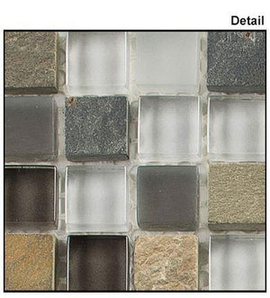 Glazzio Tiles Sag Harbor Gray (5/8 x 5/8 x 1/4) 	 GS05