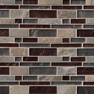 MS International Urbano Blend Interlocking 12 in. x 12 in. x 8mm Glass Stone Mesh-Mounted Mosaic Tile - free Shipping