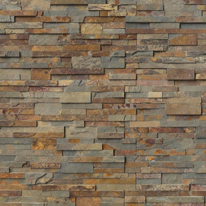 MS International Gold Rush Ledger Panel 6 in. x 24 in. Natural Slate Wall Tile