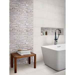 MS International Carrara 12 in. x 24 in. Glazed Polished Porcelain Floor and Wall Tile (16 sq. ft. / case)