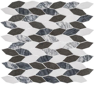 Glazzio Tiles Presidential Grey (Long Hex) CLNL280