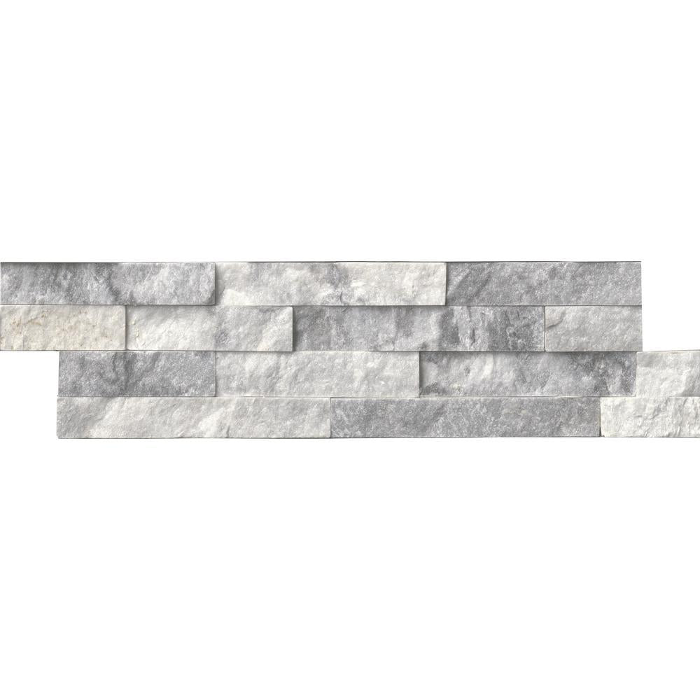 MS International Alaska Gray Ledger Panel 6 in. x 24 in. Natural Marble Wall Tile