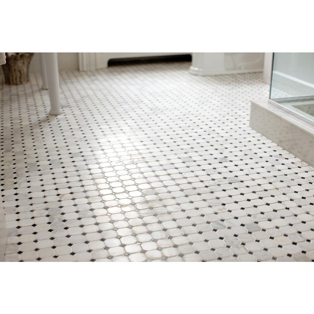 MS International Greecian White Honed 12 in. x 12 in. x 10 mm Marble Mesh-Mounted Mosaic Tile