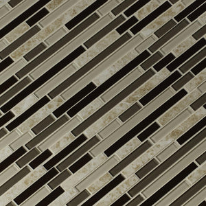 MS International Amalfi Cafe Interlocking 12 in. x 12 in. x 6 mm Glass and Porcelain Mesh-Mounted Mosaic Tile
