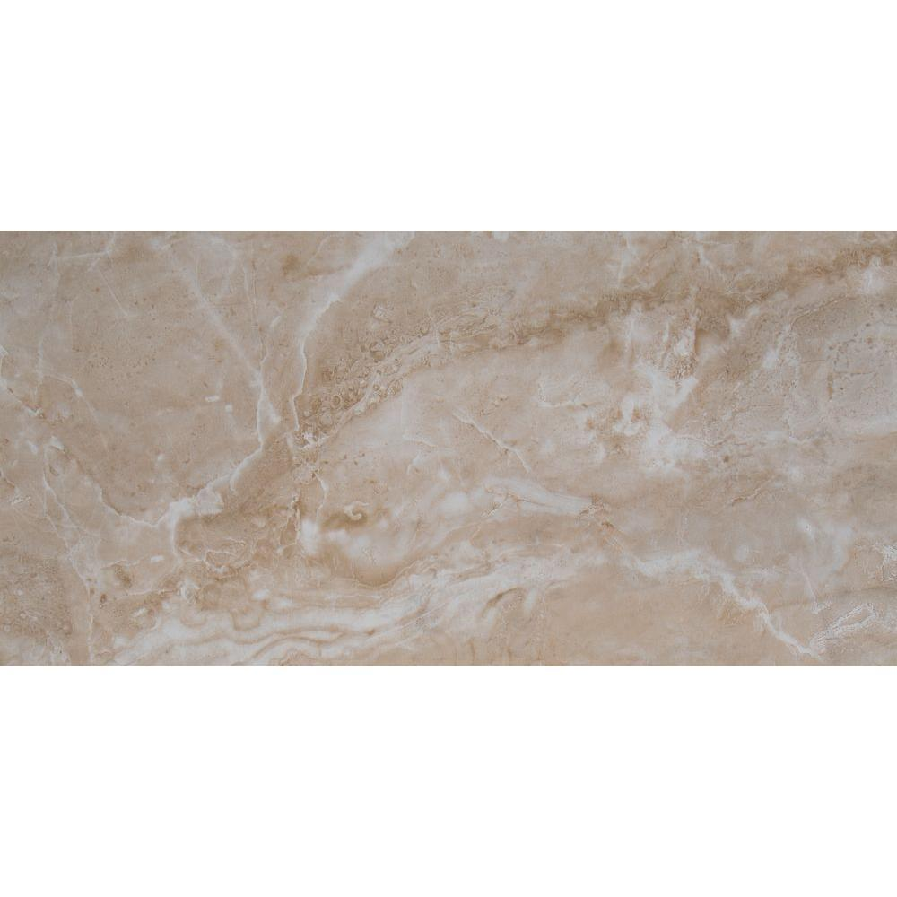 MS International Cancun Beige 12 in. x 24 in. Glazed Ceramic Floor and Wall Tile (16 sq. ft. / case)