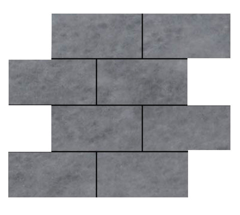 Bardiglio Grey Marble 6x12 Subway Tile Polished