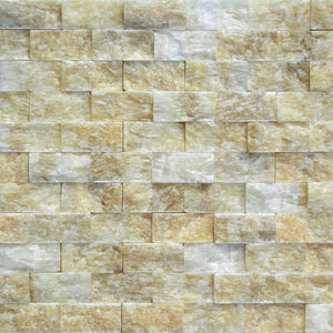 Honey Onyx Marble 1x2 Inch  Splitface Mosaic Tiles