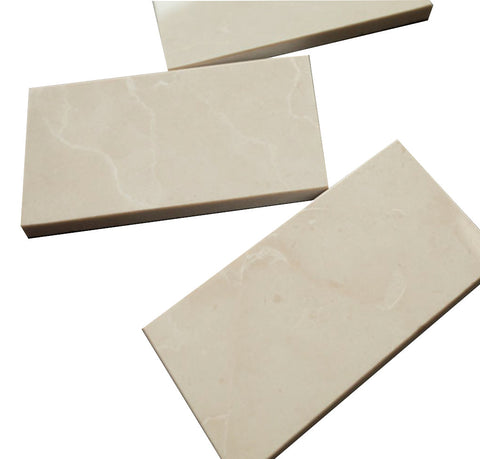 3x6 Rectangle Bright Beige Stone Tile Mosaics