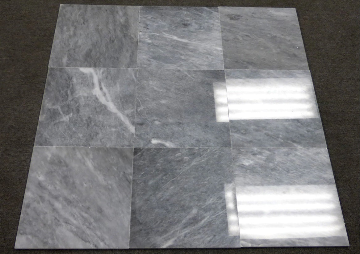 "Bardiglio Gray 12x12"" Marble Tile Polished, for Bathroom and Kitchen Walls, Kitchen Backsplashes - (Free Shipping)"