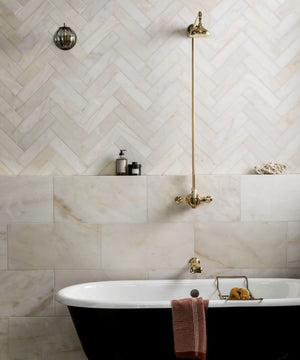 Calacatta Gold Italian Marble 12x12 Tile Honed for Bathroom and Kitchen Walls Kitchen Backsplashes