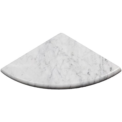 Vogue Tile Premium Quality Italian Carrara Marble Corner Shelf Polished 9'' - Free Shipping