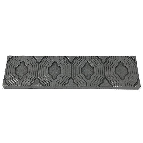 Vogue Tile Resin Pewter Metallic Look  2'' x 8'' Liner Trim Geometric Border Wall Tile for Kitchen Backsplashes & Bathroom Walls (Pewter) - Pack of 3 Pieces