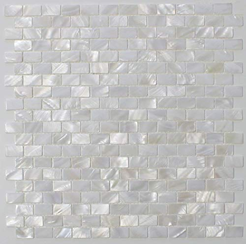 White Mother of Pearl Tile Seashell Tile Kitchen Backsplash Bathroom Wall Tile By Vogue Tile