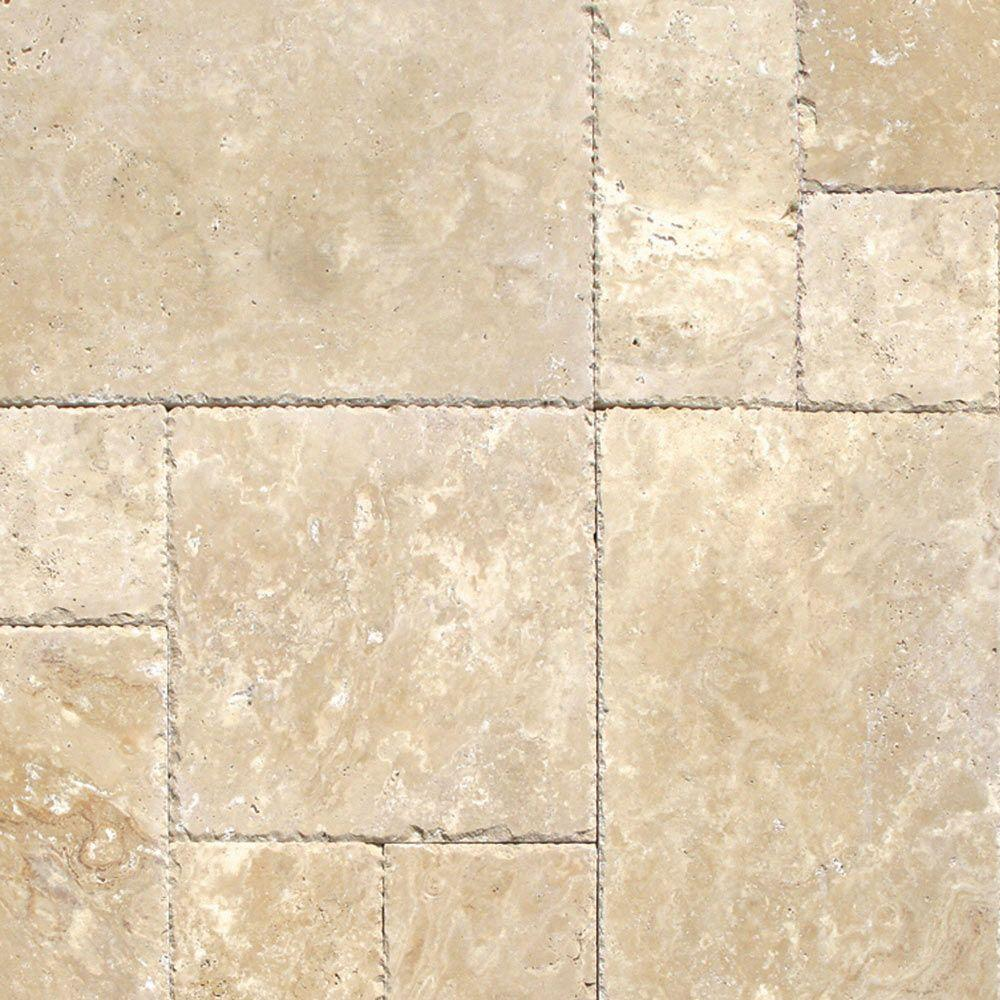 MS International Tuscany Beige Pattern Honed-Unfilled-Chipped Travertine Floor and Wall Tile (5 Kits / 80 sq. ft. / Pallet)  80 sq. ft.  Pallet)