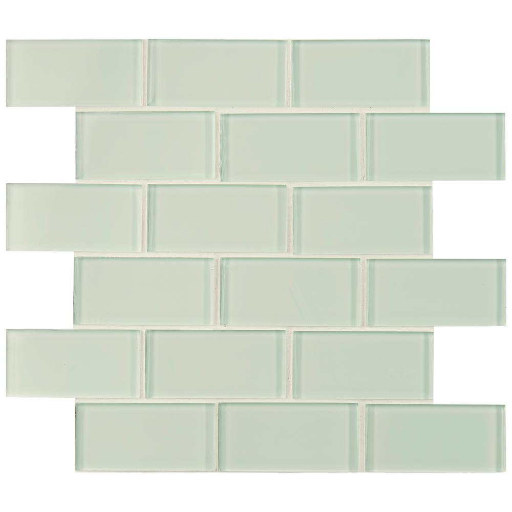 MS International Arctic Ice Subway 12 in. x 12 in. White Glass Mesh-Mounted Mosaic Tile - Free Shipping