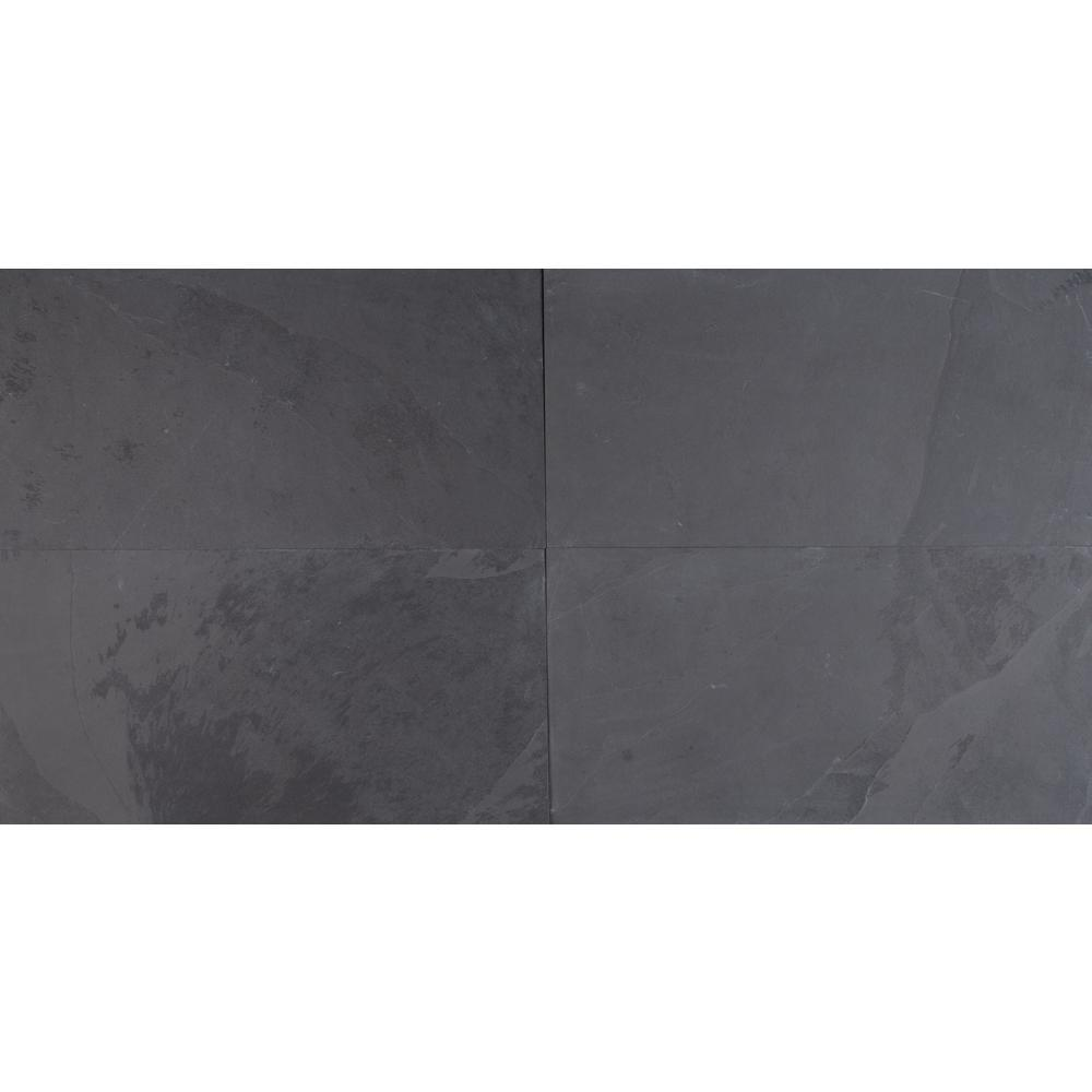 MS International Montauk Black 12 in. x 24 in. Gauged Slate Floor and Wall Tile (10 sq. ft. / case) - Free Shipping