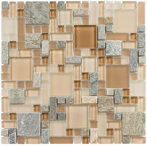 Glazzio Tiles Chestnut Screen (Block Random)  GS29