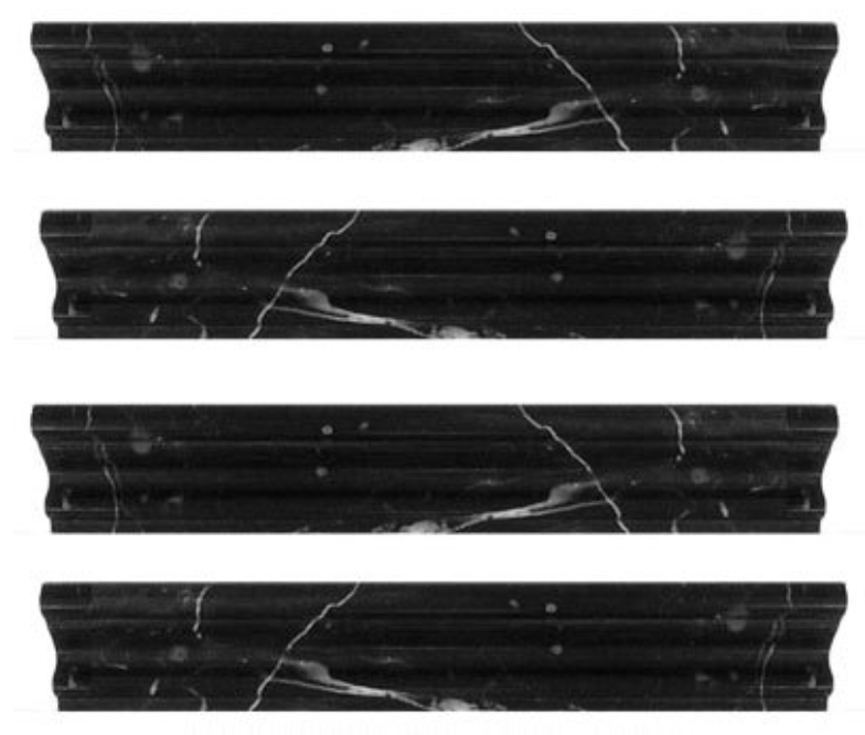 Polished Nero Marquina Black Marble Crown Molding