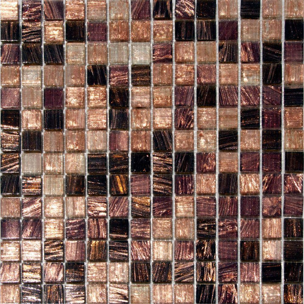 MS International Treasure Trail Iridescent 12 in. x 12 in. x 4 mm Glass Mesh-Mounted Mosaic Tile