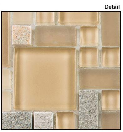 Glazzio Tiles Contemporary Mocha (Block Random) GS30