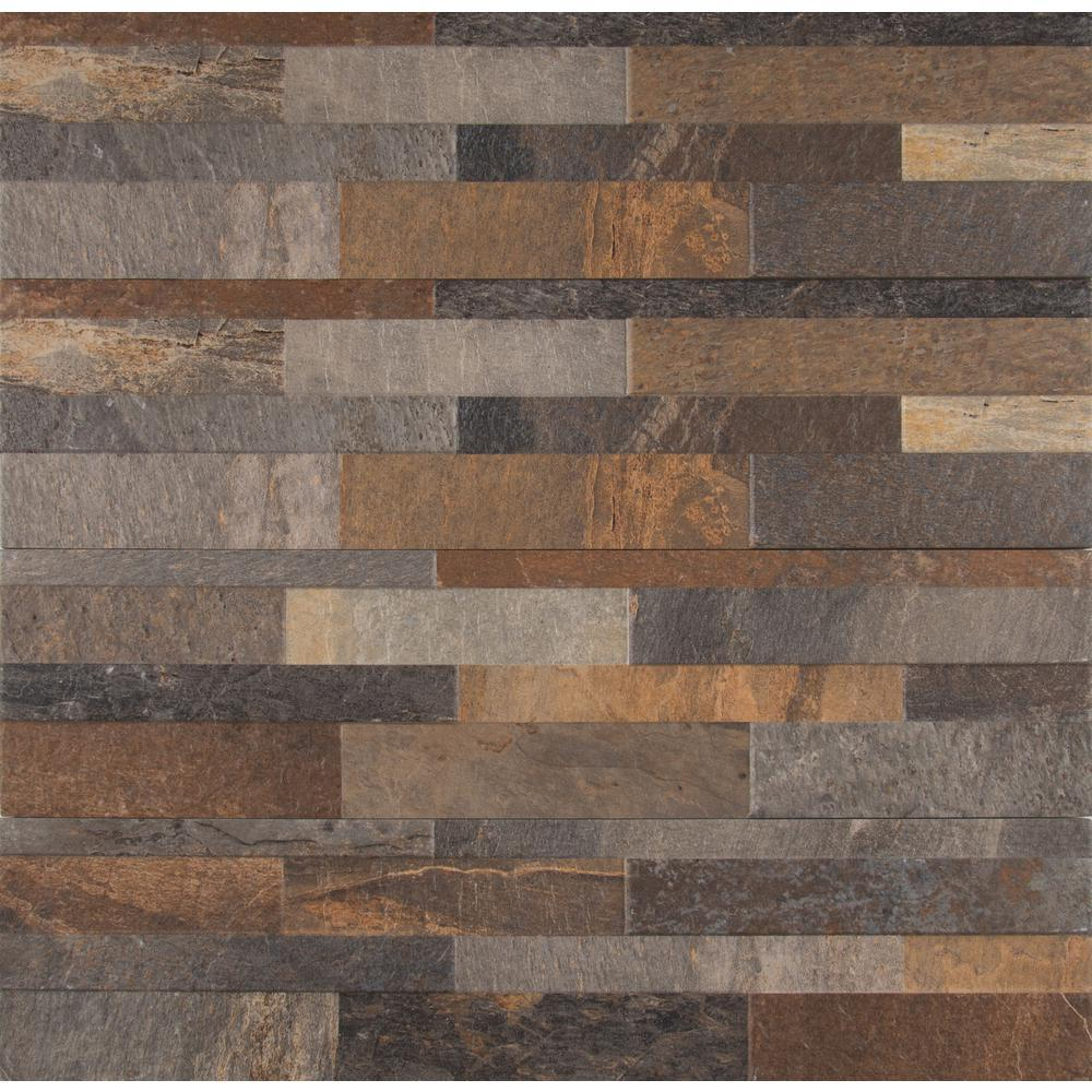 MS International Rocky Gold Ledger Panel 6 in. x 24 in. Glazed Porcelain Floor and Wall Tile