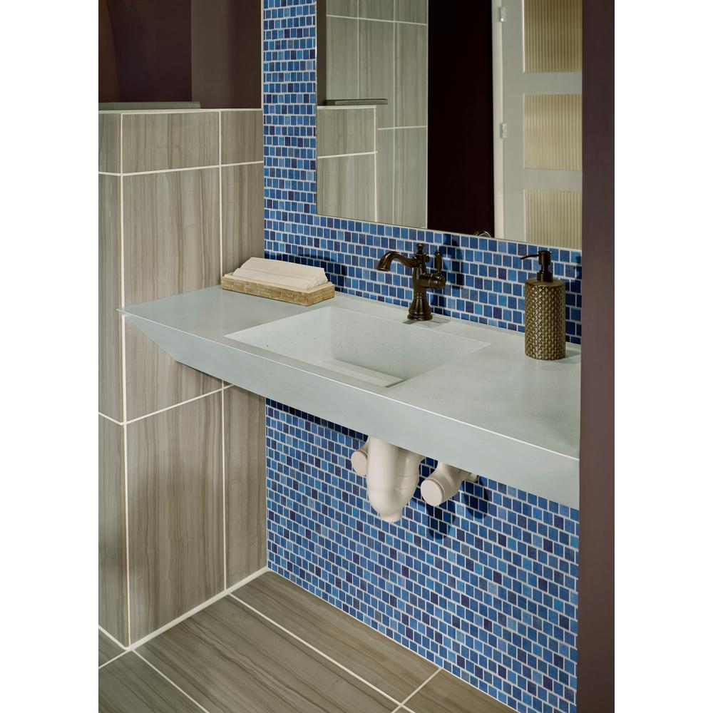 MSI Hawaiian Blue 11.81 in. x 11.81 in. x 4mm Glass Mesh-Mounted Mosaic Tile (19.4 sq. ft. / case) - Free Shipping