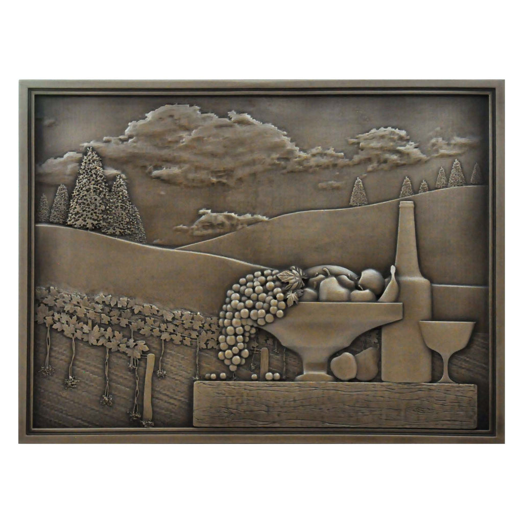 Kitchen Backsplash Premium Festival Bronze Metal Mural Hand Made Textured Tile - Free Shipping