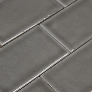 MS International Dove Gray 3 in. x 6 in. Handcrafted Glazed Ceramic Wall Tile