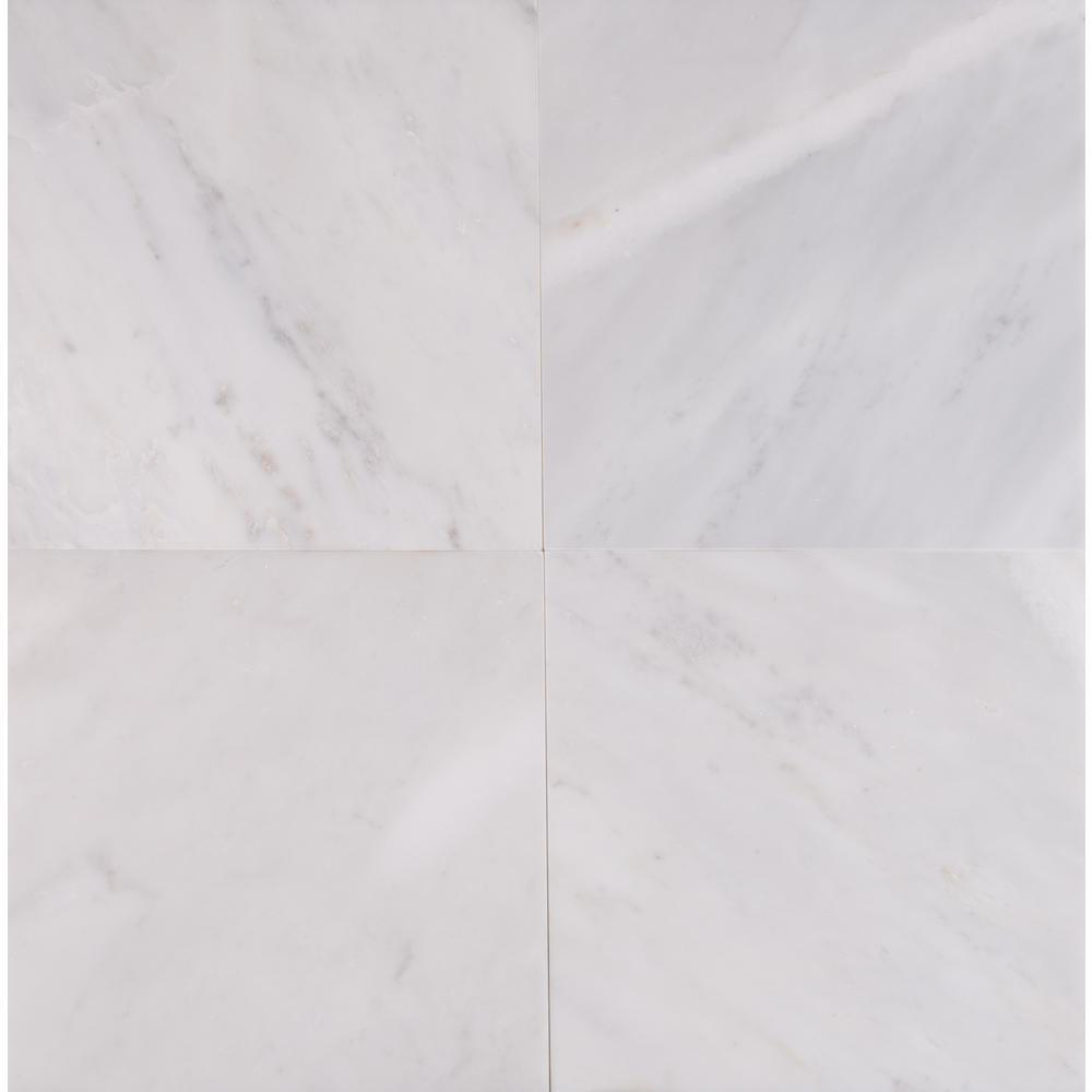 MS International Greecian White 12 in. x 12 in. Honed Marble Floor and Wall Tile (5 sq. ft. / case)